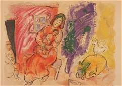 Marc Chagall - Maternity, lithograph