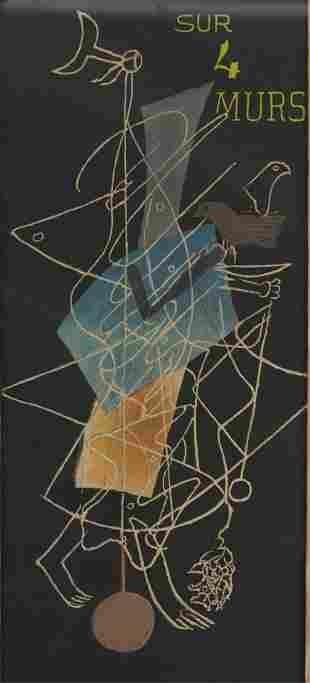 """Georges Braque """"Sur 4 Murs"""" Lithograph"""