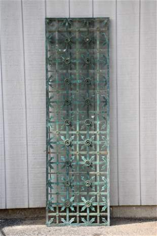 Bronze Grate, Early 20th C.