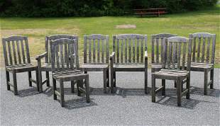 Set of 8 Smith & Hawken Teak Dining Chairs