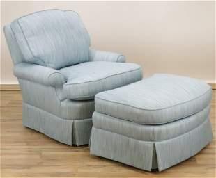 Brunschwig & Fils Club Chair & Ottoman
