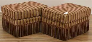 Pr. of Finely Upholstered Ottoman