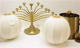 Silk Lanterns, Brass Lantern & Candelabra