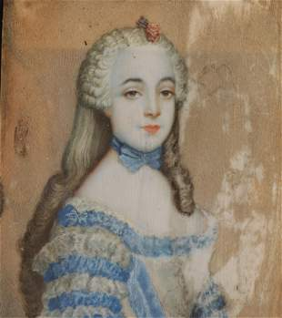 Antoine Pesne - Portrait Miniature of a Lady