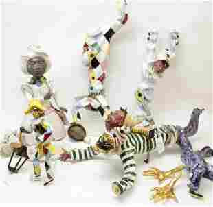 5 Italian Ceramic Figures