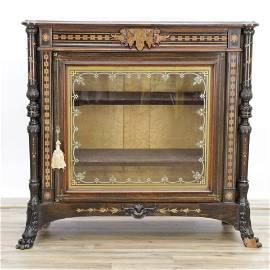 Aesthetic Inlaid Cabinet, attr Herter Bros, c 1865