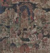 Tibetan Thangka of Heavenly King, 18th/19th C.