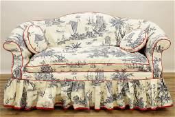 George III Style Mahogany Slipcovered Settee