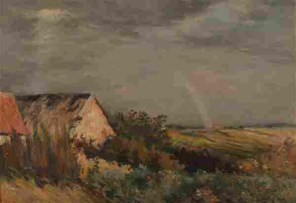 Jean Charles Cazin, Rainbow Landscape, O/C