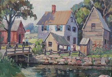 Walter Thomas Sacks - Village by River