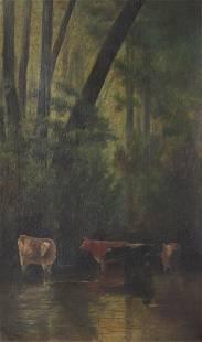 Arthur Van Zile Bodwell - Cows in Stream