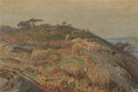 John Austin Sands Monks - Sheep on the Hillside