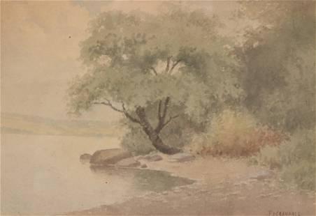 F. D. Crandall - Shoreline Watercolor