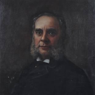 Am. School, Portrait of a Bearded Gentleman, O/C