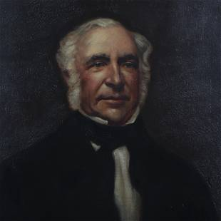 Am. School, 19th C., Portrait of a Gentleman, O/C