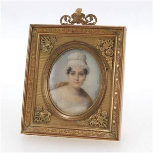 Aimee Thiebault, Miniature Portrait