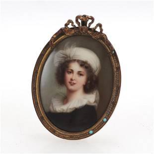 After Elisabeth Vigee Lebrun, Miniature Portrait