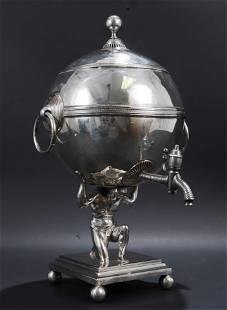 Victorian Silverplate Hot Water Urn, 19th C