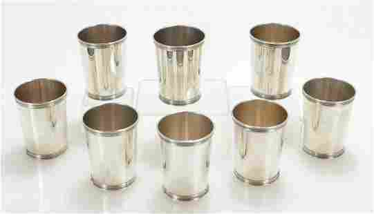 8 Sterling Silver Mint Julep Cups; Benjamin Trees
