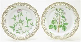 2 Flora Danica Platters, Royal Copenhagen