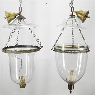 2 Victorian Parish Hadley Lanterns, 19th C.