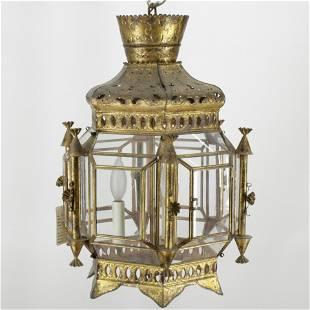Turkish Gold Washed Metal Lantern
