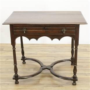 Dutch Baroque Oak Side Table, Late 17th C.
