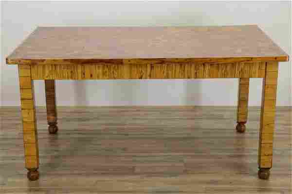 Continental Olive Veneer Extension Dining Table
