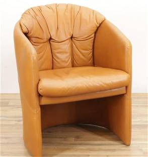 Stouby Leather Upholstered Club Chair