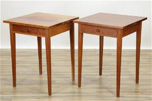 Pair Thomas Moser Cherry Side Tables