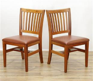 Pair Thomas Moser Cherry Side Chairs