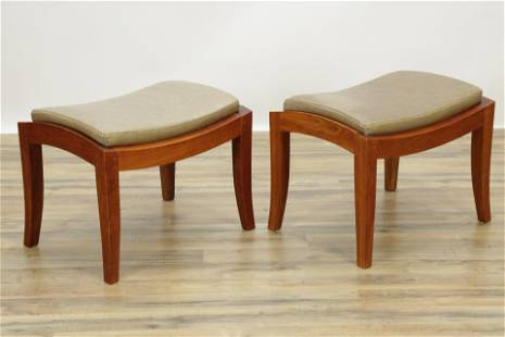 """Thomas Moser Cherry """"Wing"""" Benches"""