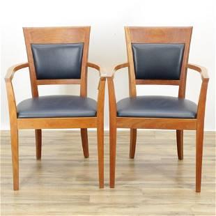 Thomas Moser Cherry Open Armchairs