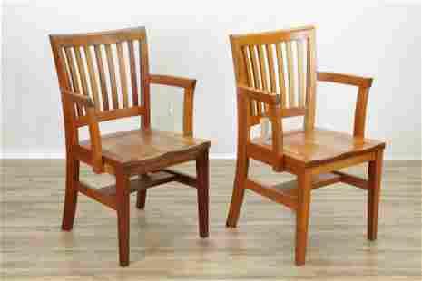 "Pair Thomas Moser Cherry ""Harpswell"" Armchairs"