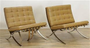 Pair Mies Van Der Rohe for Knoll Barcelona Chairs