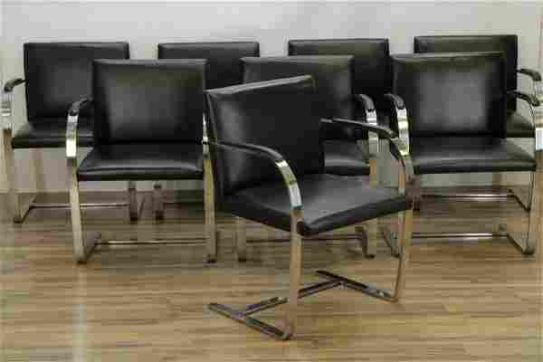 Set of 8 Mies Van Der Rohe for Knoll Brno Chairs