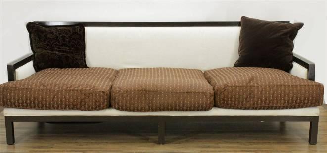 Manner of Tom Stringer Wood/Upholstered Sofa