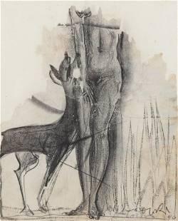 Boris Lovet-Lorski - Woman & Deer M/M