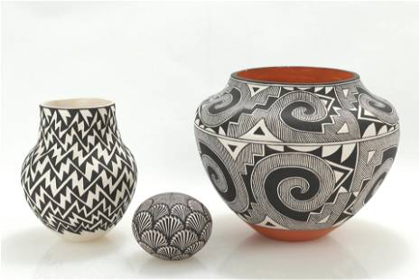 Group of Acoma Pottery, signed