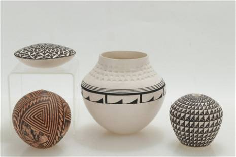 Group of Acoma Pottery, all signed