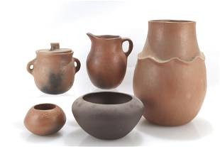 Group of Taos Pottery