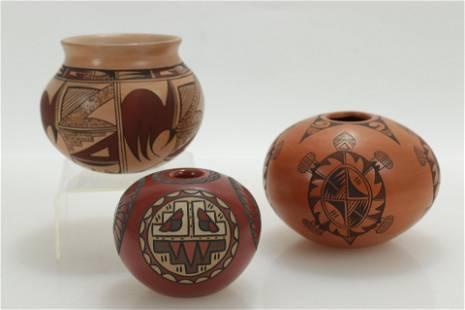 Group of Three Southwest Pottery Jars