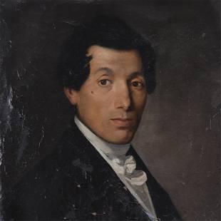 English school - Portrait of a Gentleman O/C
