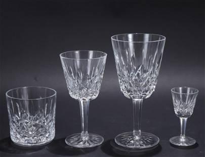 Waterford Crystal Stemware; Lismore Pattern