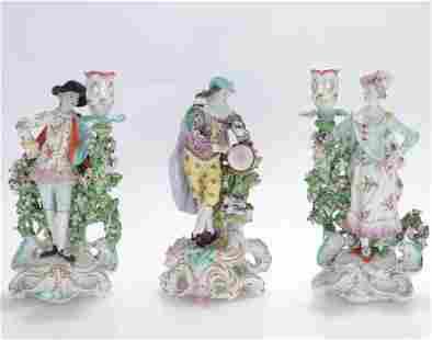 Three German Porcelain Figurines