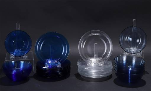 Group of Lalique and Rosenthal Dinnerware
