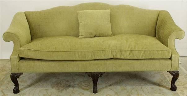 George II Style Wood Upholstered Sofa