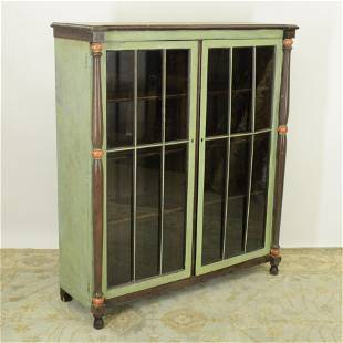 Victorian Oak Painted Bookcase