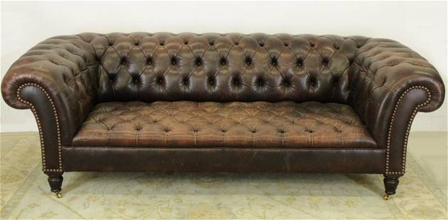 George Smith Leather Chesterfield Sofa