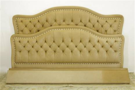 Custom Leather Upholstered King Size Bed